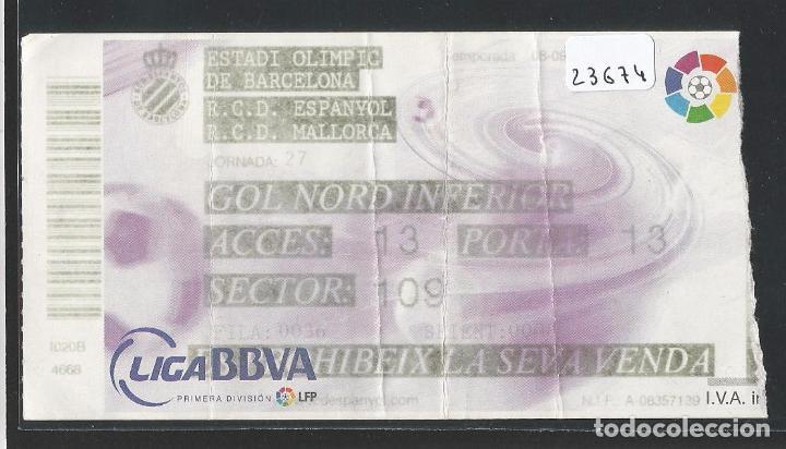R.C.D. ESPANYOL - R.C.D. MALLORCA - ESTADI OLÍMPIC - P23674 (Coleccionismo Deportivo - Documentos de Deportes - Entradas de Fútbol)