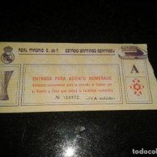 Coleccionismo deportivo: ENTRADA ANTIGUA SANTIAGUO BERNABEU UEFA. Lote 104023747