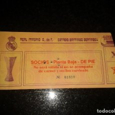 Coleccionismo deportivo: ENTRADA ANTIGUA BORUSSIA-REAL MADRID UEFA. Lote 104024263