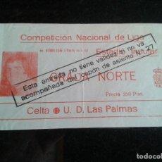 Coleccionismo deportivo: ESTRADA ANTIGUA CELTA-LAS PALMAS AÑOS 70. Lote 104267615