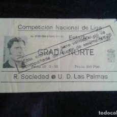 Coleccionismo deportivo: ENTRADA ANTIGUA R.SOCIEDAD-LAS PALMAS 10-5-1975. Lote 104268363
