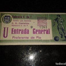 Coleccionismo deportivo: ENTRADA ANTIGUA CASTELLON-VALENCIA. Lote 104295051