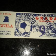 Coleccionismo deportivo: ENTRADA ANTIGUA ESTADIO LEVANTE 9. Lote 104356843