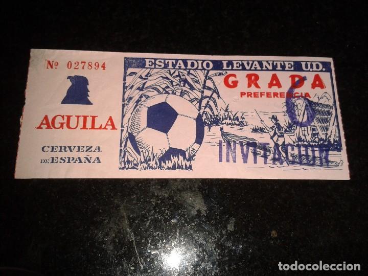 ENTRADA ANTIGUA ESTADIO LEVANTE 6 (Coleccionismo Deportivo - Documentos de Deportes - Entradas de Fútbol)