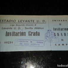 Coleccionismo deportivo: ENTRADA ANTIGUA LEVANTE-SEVILLA ATLETICO. Lote 104357671