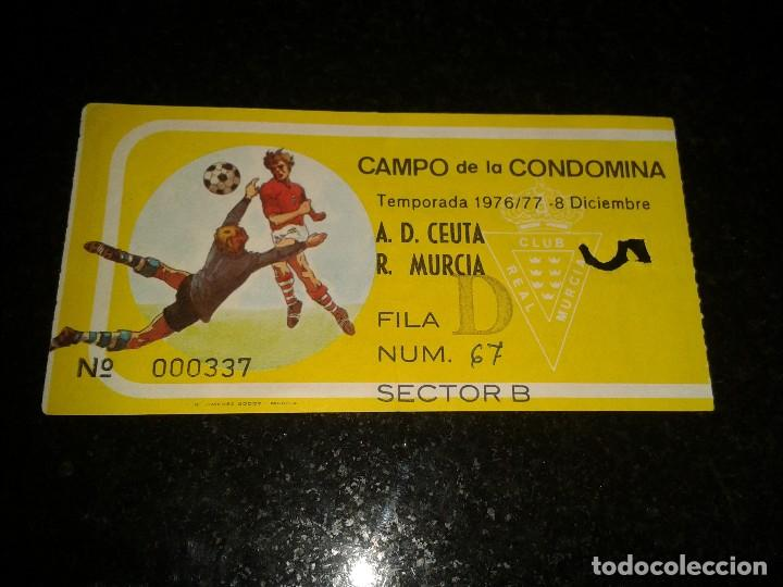 ENTRADA ANTIGUA CEUTA-REAL MURCIA 1976-77 (Coleccionismo Deportivo - Documentos de Deportes - Entradas de Fútbol)