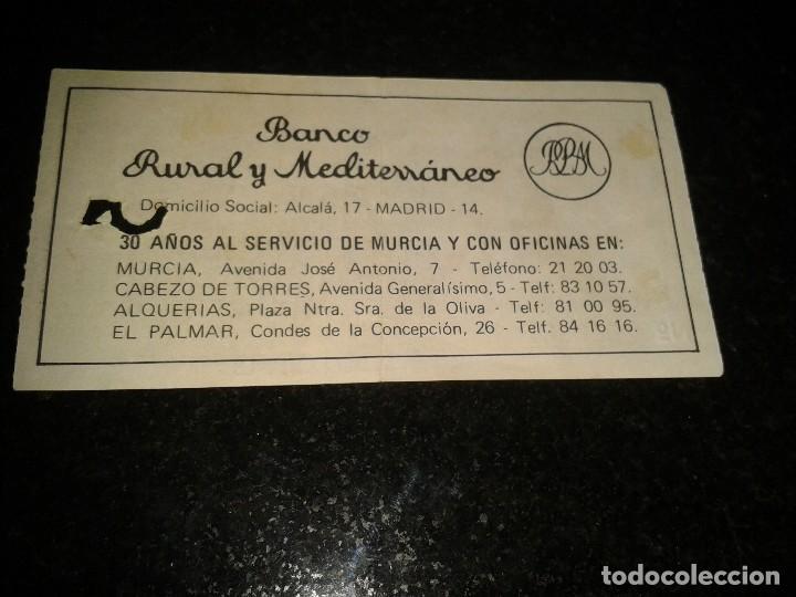 Coleccionismo deportivo: entrada antigua ceuta-real murcia 1976-77 - Foto 2 - 104363475
