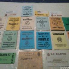 Coleccionismo deportivo: IMPRESIONANTE LOTE DE FÚTBOL CD.BELCHITE, ZARAGOZA, ARAGON. Lote 105383663