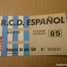 Colecionismo desportivo: ENTRADA ESPAÑOL -REAL MADRID. Lote 105763335
