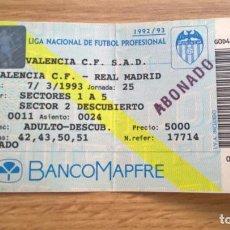 Coleccionismo deportivo: VALENCIA REAL MADRID DE 1993. Lote 105903731