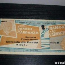 Coleccionismo deportivo: -ENTRADA VIII TROFEO CARRANZA 1962 - ZARAGOZA - BARCELONA - SAN LORENZO - INTER MILAN ( COCA COLA ). Lote 106094207