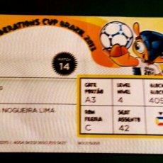 Coleccionismo deportivo: ENTRADA ESPAÑA ITALIA SEMIFINAL COPA CONFEDERACIONES BRASIL 2013 CON NOMBRES. Lote 106101764
