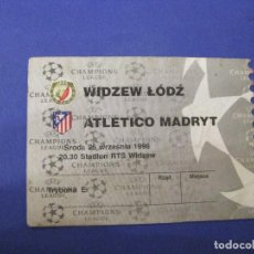 Coleccionismo deportivo: ENTRADA FÚTBOL. WIDZEW LODZ POLONIA - ATLETICO MADRID. 1996.. Lote 106481123