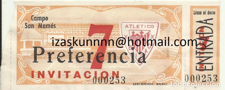 ENTRADA TICKET ATHLETIC BILBAO-REAL MADRID 48-49 COPA SAN MAMES (Coleccionismo Deportivo - Documentos de Deportes - Entradas de Fútbol)