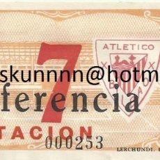 Coleccionismo deportivo: ENTRADA TICKET ATHLETIC BILBAO-REAL MADRID 48-49 COPA SAN MAMES. Lote 107346707