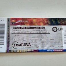 Coleccionismo deportivo: ENTRADA BARÇA PARTIDO FC BARCELONA - ATLETICO DE MADRID JORNADA 6 2008/09. Lote 107725503