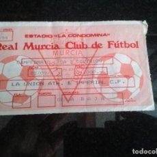 Coleccionismo deportivo: ENTRADA ANTIGUA LA UNION ATH-IMPERIAL C.F.. Lote 109067895