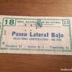 Coleccionismo deportivo: R3627 ENTRADA TICKET REAL MADRID 2-1 VALENCIA LIGA TEMPORADA 1965 1966. Lote 109650567