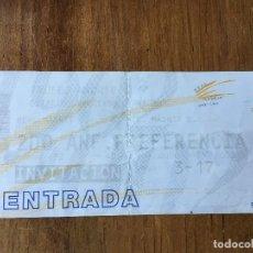 Coleccionismo deportivo: R3628 ENTRADA TICKET TROFEO MADRID 2012 REAL MADRID ATLETICO MADRID SANTIAGO BERNABEU. Lote 109650703