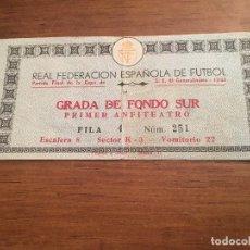 Coleccionismo deportivo: R3629 ENTRADA TICKET FINAL COPA GENERALISIMO 1968 REAL MADRID BARCELONA CAMPEON. Lote 109650955