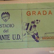Coleccionismo deportivo: ENTRADA FUTBOL LEVANTE U D. Lote 110148995