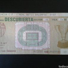 Coleccionismo deportivo: PARTIDO LIGA 87/88. VALENCIA CF -REAL BETIS. SEPTIEMBRE 1987. LUIS CASANOVA VALENCIA. VER FOTOS.. Lote 110714724