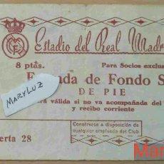 Coleccionismo deportivo: ENTRADA BERNABÉU. R.MADRID-MANCHESTER UNITED (3-1).SEMIFINAL 2ª COPA EUROPA.11 ABRIL 1957.VER FOTOS. Lote 110299563