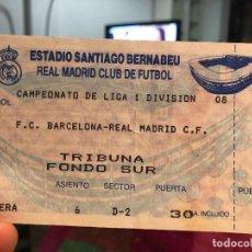 Coleccionismo deportivo: ENTRADA BARCELONA- MADRID, ESTADIO SANTIAGO BERNABÉU . Lote 112392839