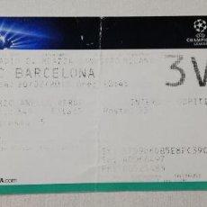 Coleccionismo deportivo: MILAN AC FC BARCELONA CHAMPIONS LEAGUE COPA EUROPA 2012 2013 OCTAVOS FINAL SAN SIRO ENTRADA FUTBOL. Lote 112543671