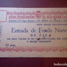 Coleccionismo deportivo: ENTRADA 1959 IV COPA EUROPA CHAMPIONS SEMIFINAL REAL MADRID ATLETICO MADRID ORIGINAL . Lote 112757839