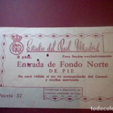 Coleccionismo deportivo: ENTRADA 1957 II COPA EUROPA CHAMPIONS REAL MADRID MANCHESTER UNITED SEMIFINAL . Lote 112759303