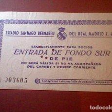 Coleccionismo deportivo: ENTRADA 1964 X COPA EUROPA CHAMPIONS REAL MADRID DUKLA PRAGA ORIGINAL TICKET BERNABEU. Lote 112762527