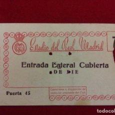Coleccionismo deportivo: CD-28.- ESTADIO DEL REAL MADRID.- ENTRADA LATERAL CUBIERTA DE PIE.- PUERTA 45.- . Lote 112815251