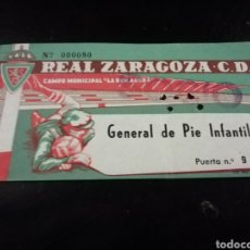 Coleccionismo deportivo: ANTIGUA ENTRADA DE FUTBOL REAL ZARAGOZA LA ROMAREDA. Lote 112907182
