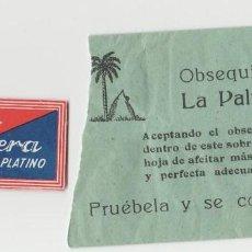Coleccionismo deportivo: LOTE D-CUCHILLA AFEITAR OBSEQUIO ANTIGUA LA PALMERA. Lote 113153719