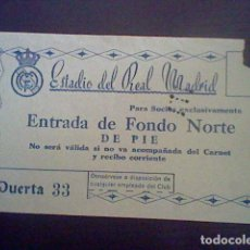 entrada 1951 SELECCION MADRID 6 CONTRA AMBERES 1 FUTBOL