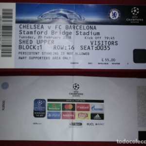 ENTRADA CHAMPIONS Chelsea vs FC Barcelona Stamford Bridge Stadium 20/02/2018 Futbol