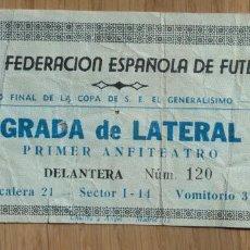 Coleccionismo deportivo: FUTBOL FINAL COPA DEL GENERALISIMO - VALENCIA C.F. CONTRA ATLETICO DE BILBAO - 1967. Lote 114625339