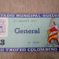 Coleccionismo deportivo: ENTRADA III TROFEO COMOMBINO AÑO 1967. Lote 115178175
