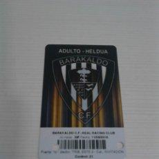 Coleccionismo deportivo: ENTRADA DE FÚTBOL BARAKALDO C.F. - REAL RACING CLUB.. Lote 115188795