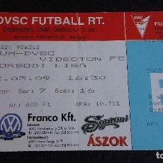 Coleccionismo deportivo: ENTRADA / TICKET DVSC DEBRECENI VASUTAS SPORT CLUB VS VIDEOTON FC (09.03.2002) BORSODI LIGA HUNGRÍA. Lote 195484508