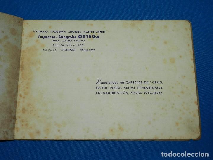 Coleccionismo deportivo: CATALOGO DE PROPAGANDA DE FUTBOL 1944 - 45 , IMP. ORTEGA , VALENCIA , DISEÑO DE ENTRADAS DE FUTBOL - Foto 2 - 117106759