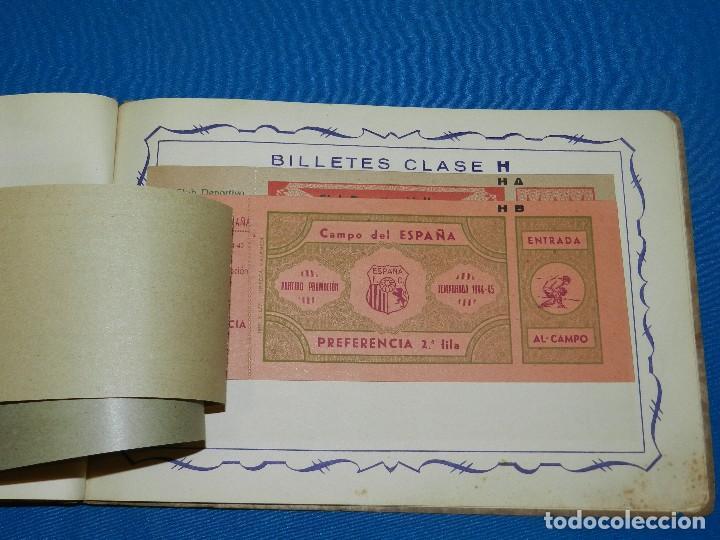 Coleccionismo deportivo: CATALOGO DE PROPAGANDA DE FUTBOL 1944 - 45 , IMP. ORTEGA , VALENCIA , DISEÑO DE ENTRADAS DE FUTBOL - Foto 5 - 117106759