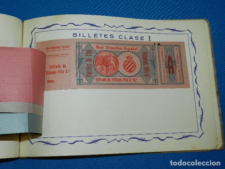 Coleccionismo deportivo: CATALOGO DE PROPAGANDA DE FUTBOL 1944 - 45 , IMP. ORTEGA , VALENCIA , DISEÑO DE ENTRADAS DE FUTBOL - Foto 7 - 117106759