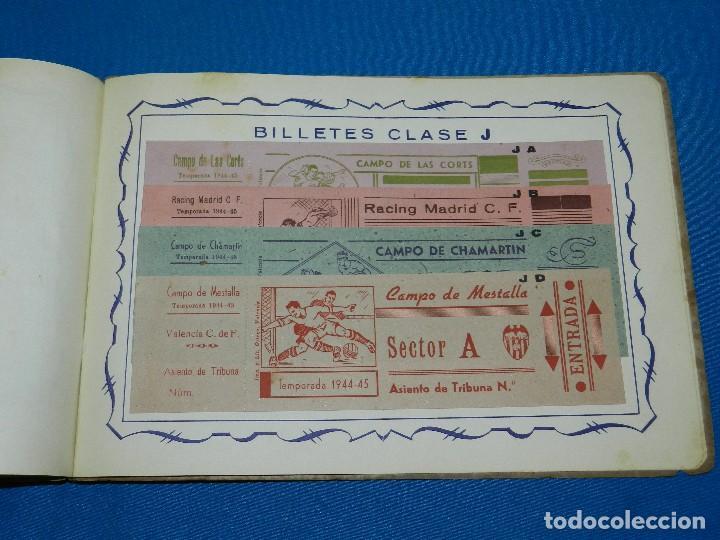 Coleccionismo deportivo: CATALOGO DE PROPAGANDA DE FUTBOL 1944 - 45 , IMP. ORTEGA , VALENCIA , DISEÑO DE ENTRADAS DE FUTBOL - Foto 8 - 117106759