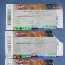Coleccionismo deportivo: FC BARCELONA BARÇA. COPA DEL REY 2008-2009 08-09. LOTE 3 ENTRADAS. Lote 118016915