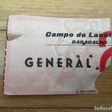 Coleccionismo deportivo: R4112 ENTRADA TICKET FUTBOL BARACALDO BARAKALDO CAMPO VIEJO DE LASESARRE AÑOS 60. Lote 118261467