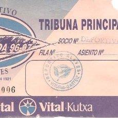 Coleccionismo deportivo: ENTRADA PARTIDO LIGA, ALAVÉS, 1996/97. Lote 118370307