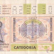 Coleccionismo deportivo: ENTRADA A LA FINAL FOOTBALL COPA DE ORO (MUNDIALITO) AÑO 1980 – URUGUAY. Lote 119269019