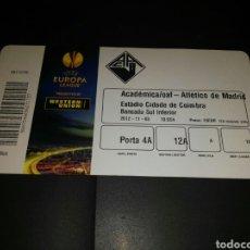 Coleccionismo deportivo: ENTRADA TICKET ACADEMICA COIMBRA-ATLÉTICO MADRID 12-13. Lote 119356184